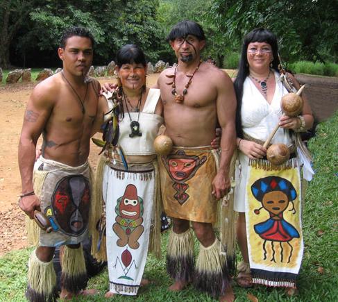 indianen men en dier